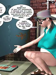 3d xxx comics pervert pregnant woman in mans toilet collect sperm and taste it
