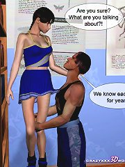 Cheerleader is taking rather high with vice-librarian at the crazy xxx school right now!