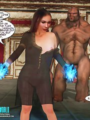 3d sex comics about the dark wizard having a sex fight with a young witch