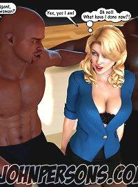 John Persons. 3D interracial sex interview