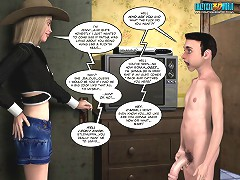 3d sex comix about a skinny blond whore who likes to fuck in a cowgirl position
