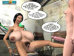 Hermaphrodite with enormous long dick fuck succubus on that crazy 3d comics