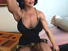 Bodybuilder girl shows off her muscles at Enjoy 3D Porn