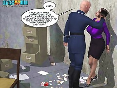 crazy xxx 3d comics of a hot and sexy imprisoned girls fucks hard with the guards