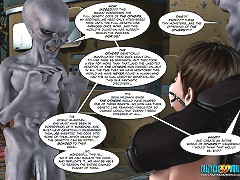 Enjoy fantastic comic toon sex between sweet lady and crazy alien