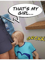 3d xxx comics with blonde and brunette, they sucking dick and ride it together