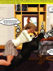 That's it bitch, suck more of my big cock. 3d incest comic
