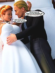 Wedding comic 3d sex with bride getting hardcore double fucked with two huge cocks