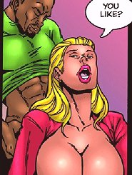 You are hitting my spot on this interracial comic porn! Yes bitch, I'm dropping bottom in your pussy!