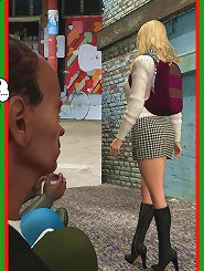 3d comic porn having blonde girl who fucked by a pair of mobsters on the street, the lady have wonderful body!