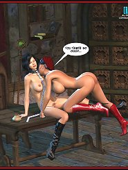Lesbian femdom takes place pretty often in this underground between these two crazy xxx 3d world tribades