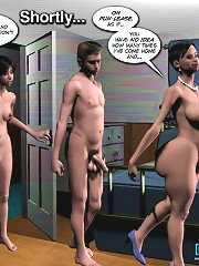 3d porn comics of a crazy family where a guy fucks both his girlfriend and her dissolute mom