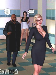 3d cartoon sex that have ebony assess jerking the rod below the table