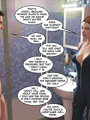 3d porn comics. You're cock is so stiff! I want to take it all down my throat