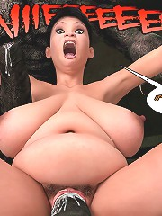 I'm not gonna ripped apart from the inside on this 3d cartoon porn by some monster baby