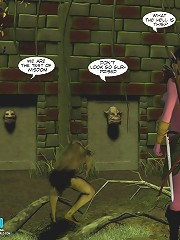 crazy 3d xxx world of elves girls where they are cought and bound by an evil creature and are surely to be fucked