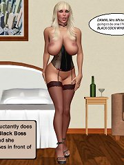 3d sex toons with triple interracial fucking