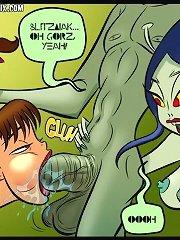 Farm lessons comix - Rita Mae suck and fuck alien's cock