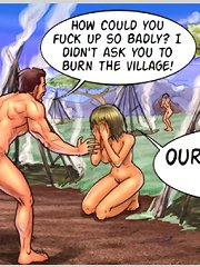 Comic porn exposing the toon sex scenes outdoors