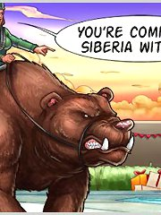 Sex cartoons and comics with bizarre scenes, naked girls and bears