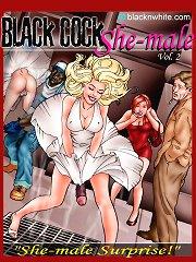 White slut with big black cock interracial cartoon sex