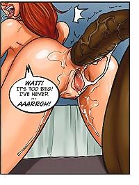 Busty MILF got a black dong deep in her ass in a cartoon anal porn