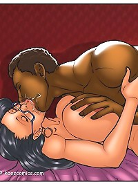 Dive into the ocean of interracial cartoons to see amazingly hot sex