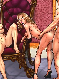 Fuck! Your cock in too big for my tiny asshole! These anal comics are very painful