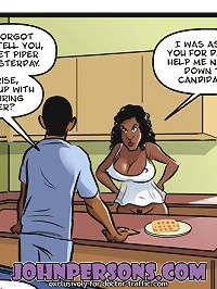 Dazzling black and white sex in hot John Persons interracial cartoons