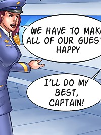We have to make all of our guests happy at xxx comic game! I'll do my best, captain!