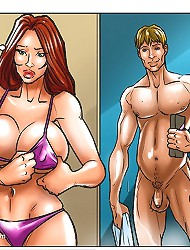 Only the best sex comics featuring hot white gals in black porn cartoons