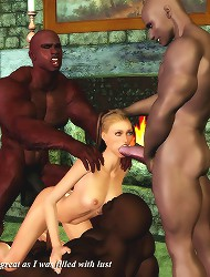 3d xxx comics with three muscle negros and one white babe by Dark Lord