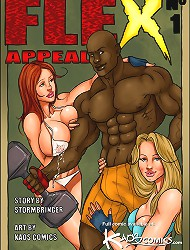 Busty wife fucking huge muscled black cock in new porn cuckold comics