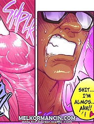 Ah, swallow it bitch, swallow every cum drop at these cartoon blowjob pictures