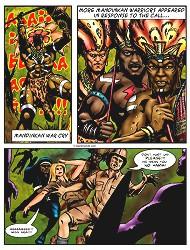 Interracial cartoon sex threesome