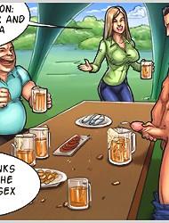 Shocking cartoon porn game with horny kinky dudes sharing huge hard cocks