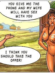 Horny hot beauty gets hardcore pussy fucked by aborigines