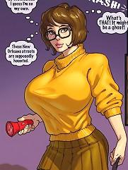 Velma porn. John Persons interracial sex fantasy with Velma Dinkley