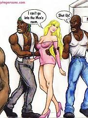 On this cartoon porn three niggers gangbanged white slut