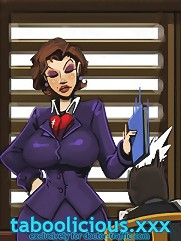 Cartoon porn comics about busty teacher who wants to seduce her young learner