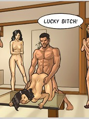 Extreme cartoon porn comics with hot dude disgracing naughty whores