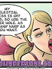 Hardcore interracial John Persons porn comics with black cock deep penetrating blonde hottie in throat