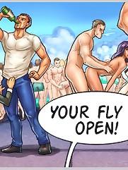 XXX cartoons with sexy BJ scenes, gangbang and wild orgies