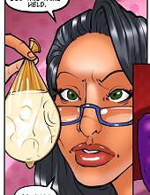 Cute interracial toons star is covering her naked body with jizz