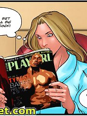 Going up itchiness between the woman's thighs which she cannot to ripple at xxx comic