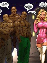 Hot blonde slut and three nigga's dicks porn comic