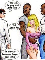 White slutty wife wants big black cocks erotic comics