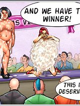 Bizarre cartoon porno with chubby and horny women