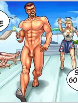 Sir, you can't go naked on deck and show your cartoon dick to everybody!