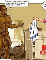Sexy cuckold toons blondinet lady cheating the girl's hubby with a african american fucker pumped up her bum!